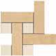 Gardenia (Versace) Vanitas Mosaico Chesterfield Macro Noce/Beige 36404
